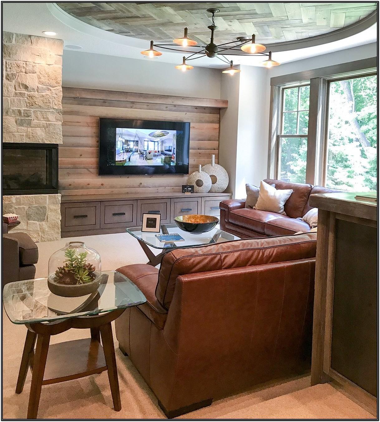 Living Room Furniture Idea Corner Fireplace