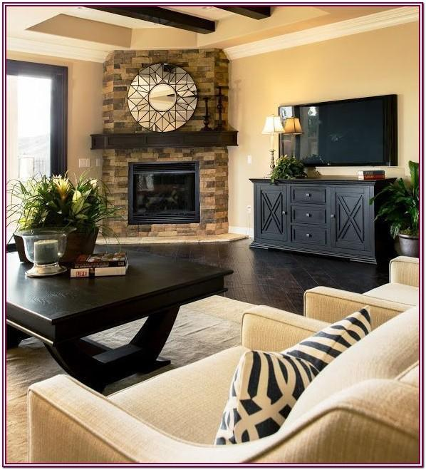 Living Room Furniture Placement With Corner Fireplace