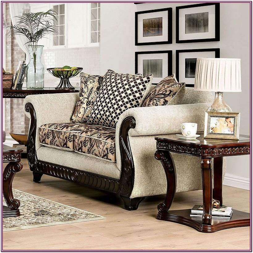 Living Room Furniture With Wood Trim
