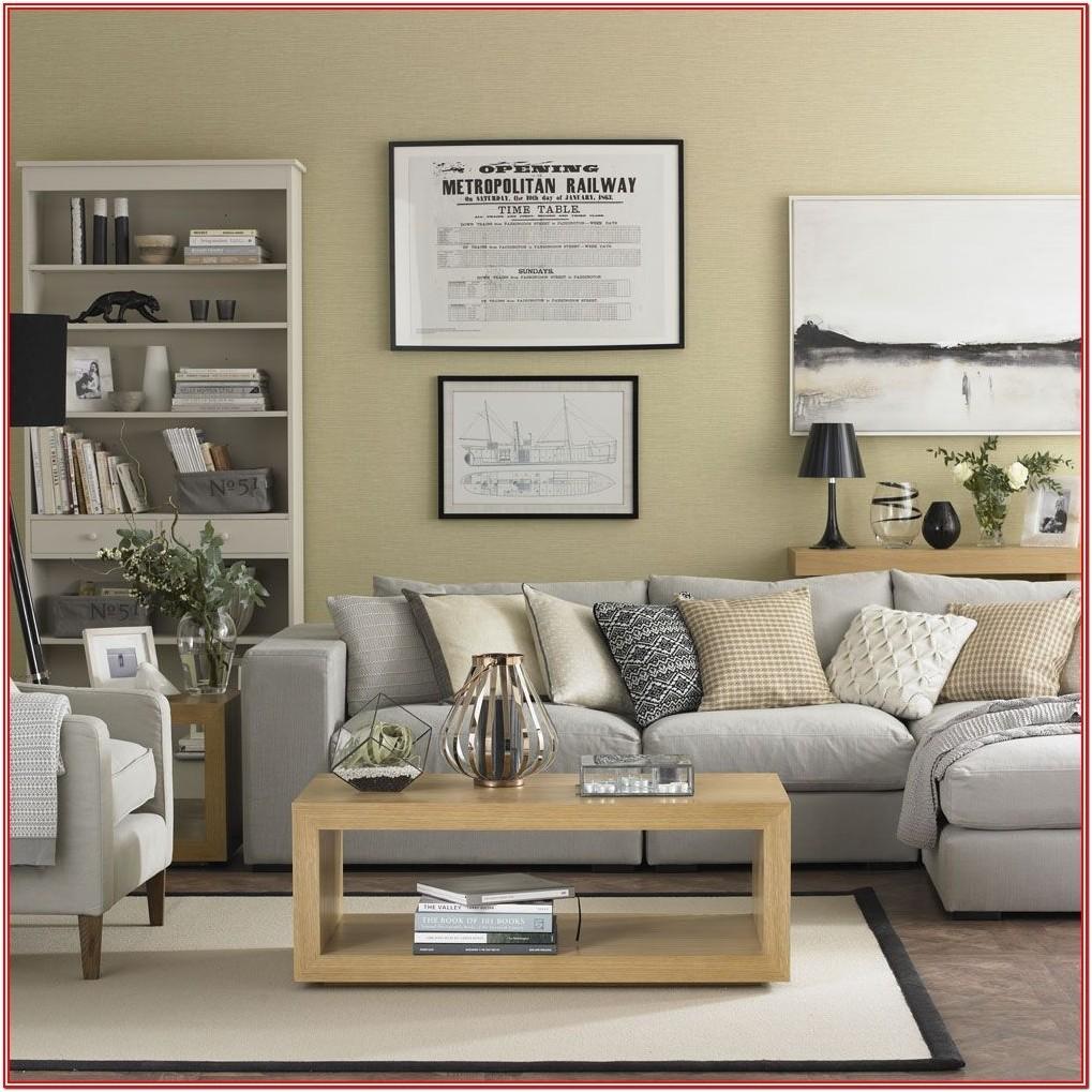 Living Room Gold Granite Floor Wall Idea