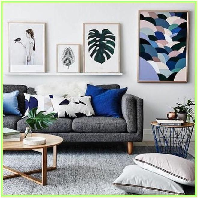 Living Room Grey Couch Pillow Ideas