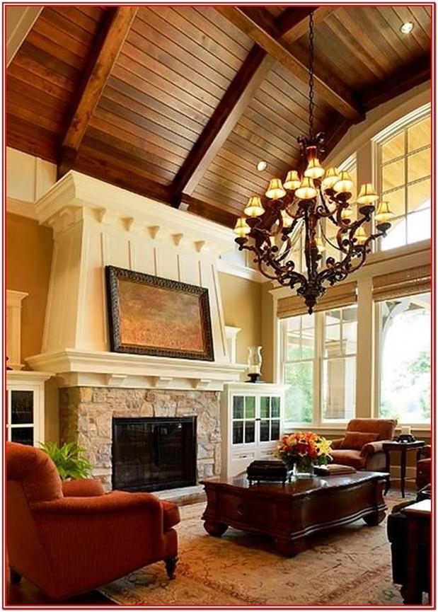Living Room High Ceiling Lighting Ideas