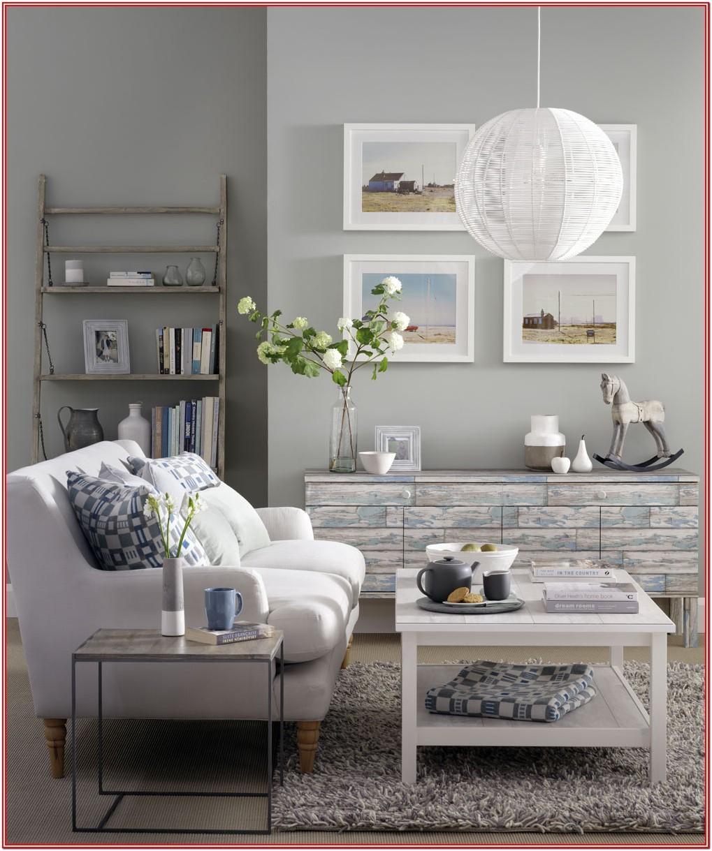 Living Room Idea White Gray