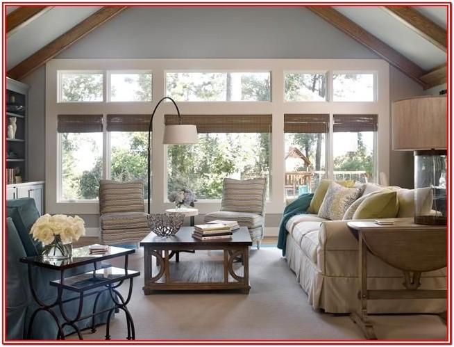 Living Room Idea With Big Windows
