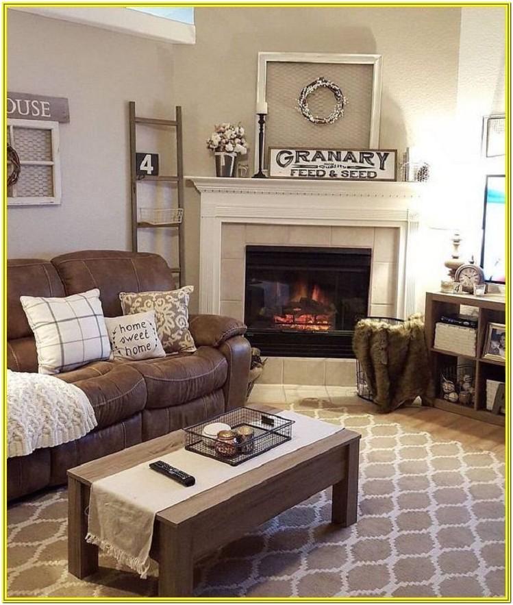 Living Room Ideas 2019 Brown Sofa