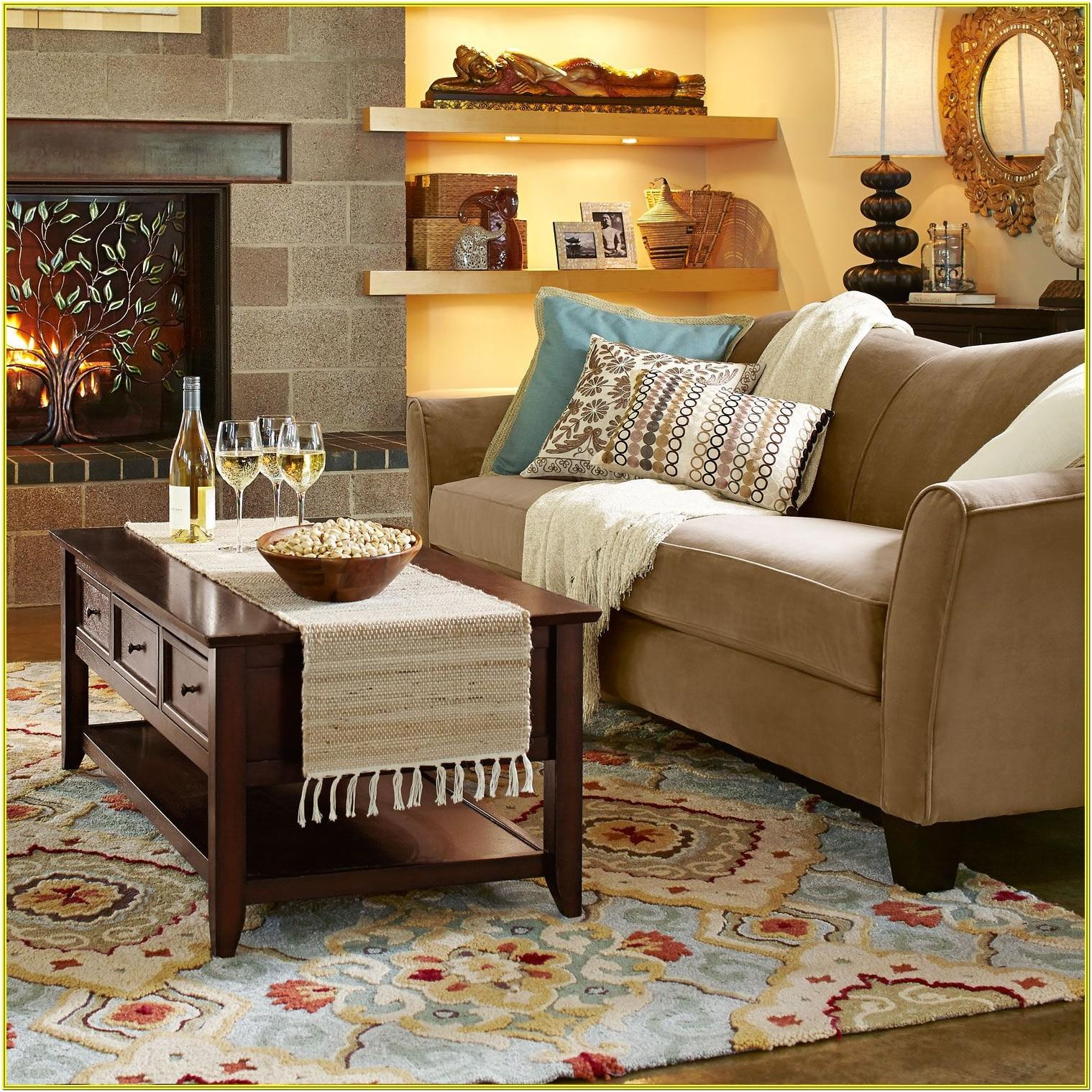 Living Room Ideas Blue Rug