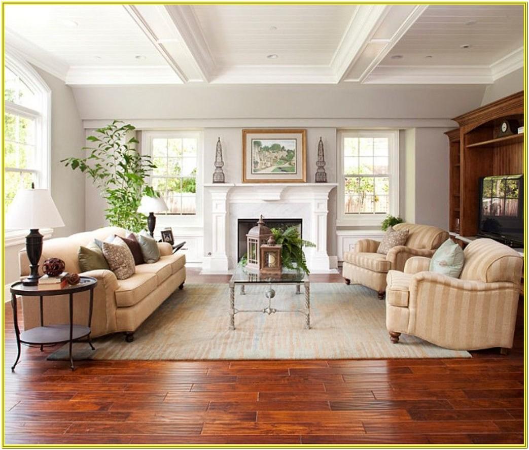 Living Room Ideas Blue Wall Wood Floor