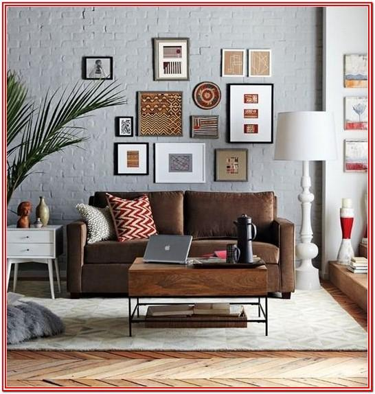 Living Room Ideas Brown Sofa Grey Walls