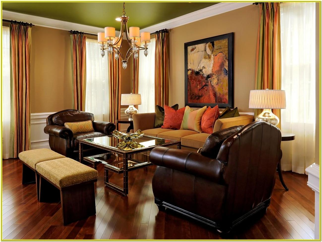 Living Room Ideas Brown Walls