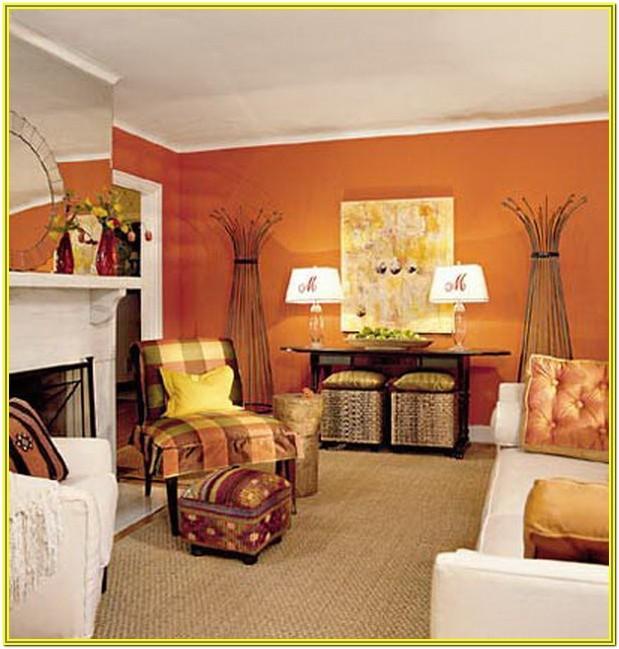 Living Room Ideas Burnt Orange