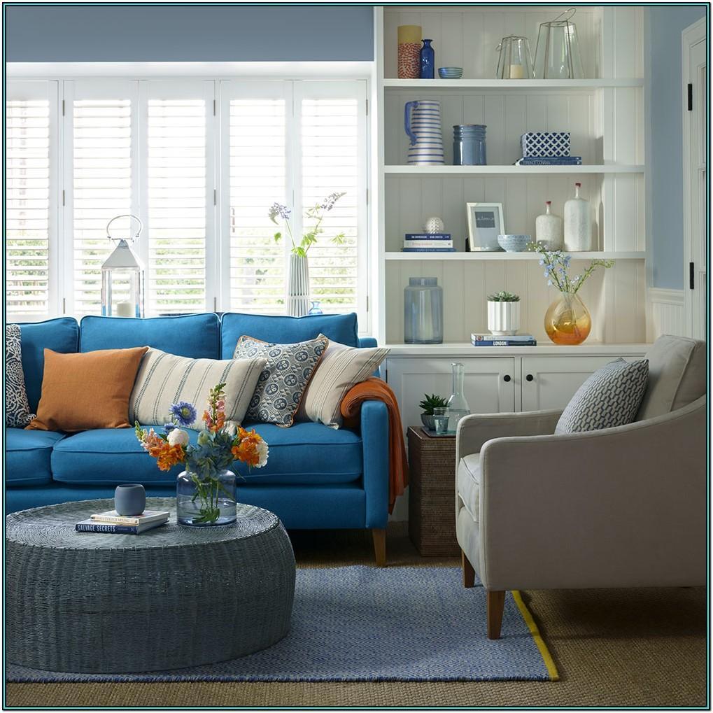 Living Room Ideas Deep Blue Sofa