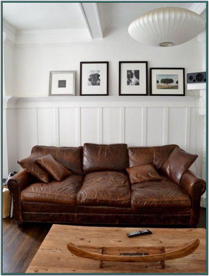 Living Room Ideas Distressed Leather Sofa