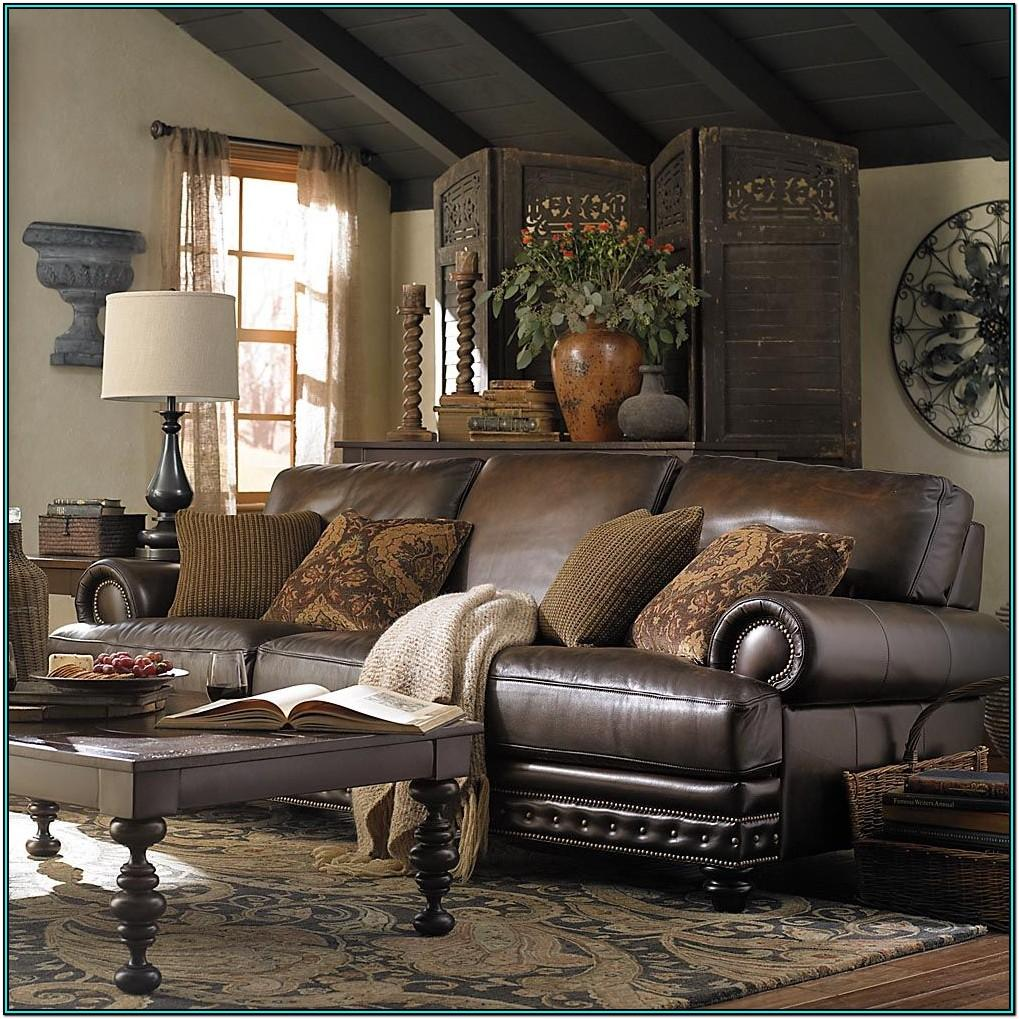 Living Room Ideas Distresses Leather Sofa