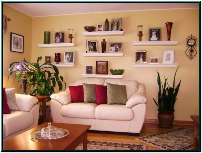 Living Room Ideas Floating Shelves