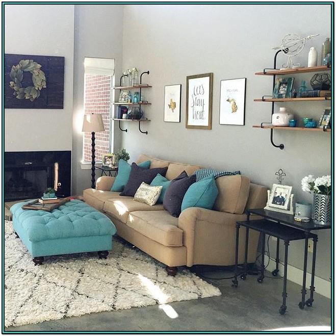 Living Room Ideas Grey And Turquoise