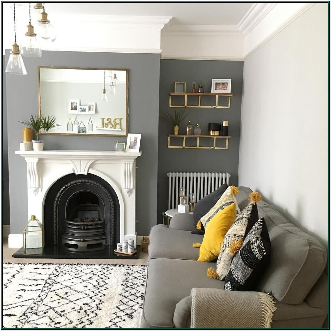 Living Room Ideas Grey Feature Wall