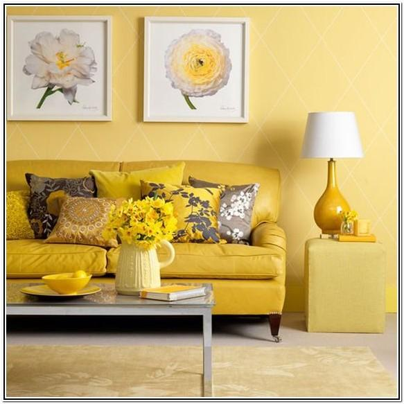 Living Room Ideas Grey Yellow And Green