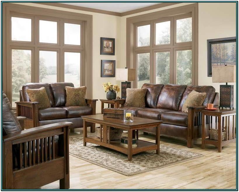 Living Room Ideas Hardwood Brown Leather