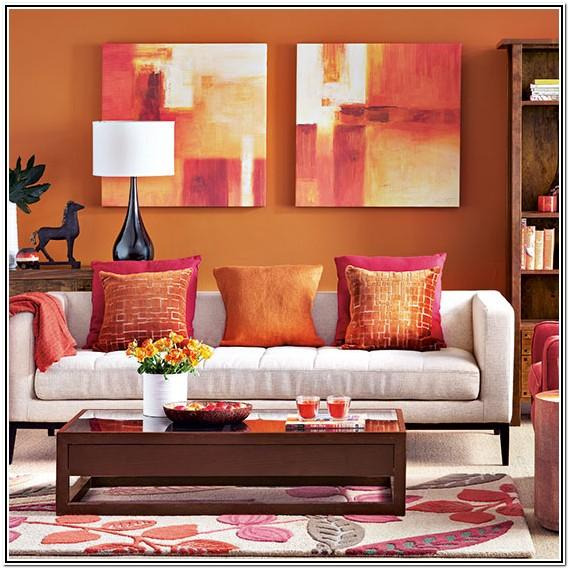Living Room Ideas Modern Orange And Black