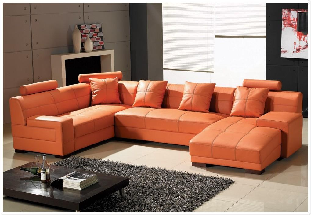 Living Room Ideas Orange Leather Couch