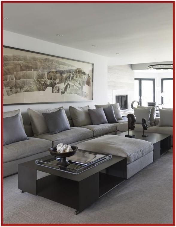Living Room Ideas Using A Long Sofa