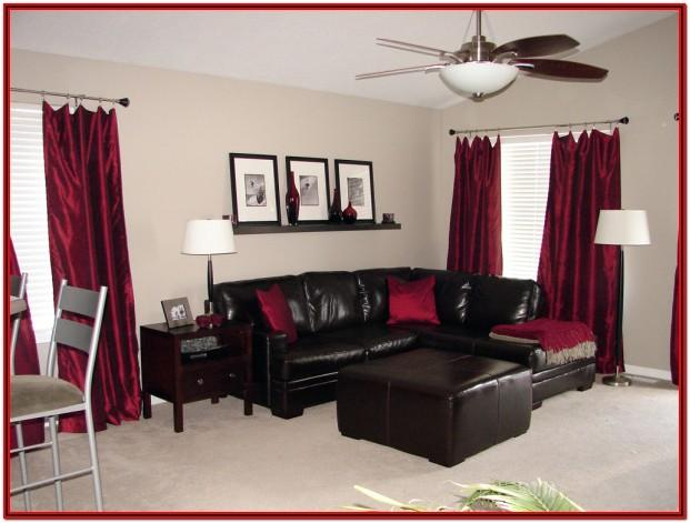 Living Room Ideas Using Red And Brown