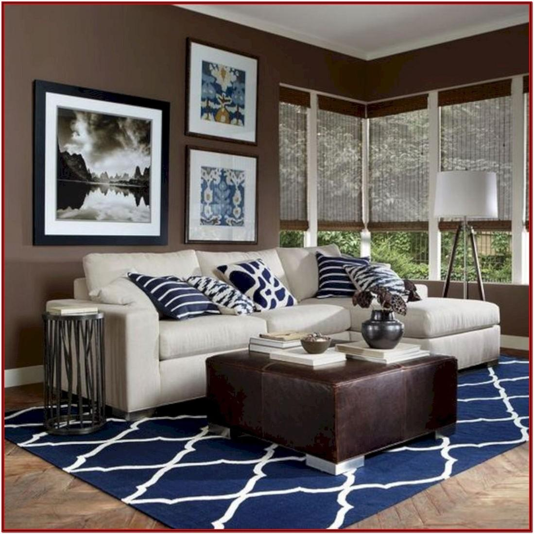 Living Room Ideas Warm Blue And Brown