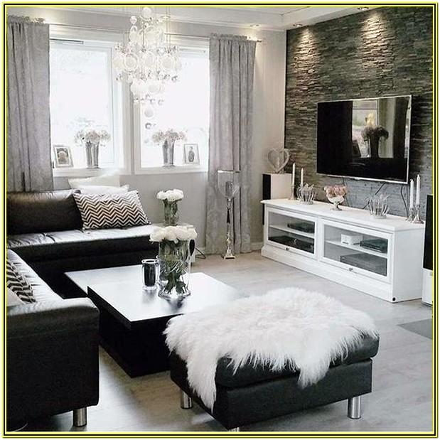 Living Room Ideas White Grey Black