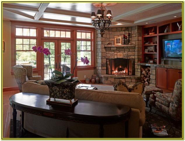 Living Room Ideas With A Corner Fireplace