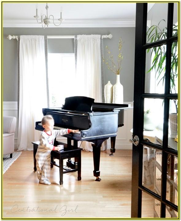 Living Room Ideas With Black Grand Piano