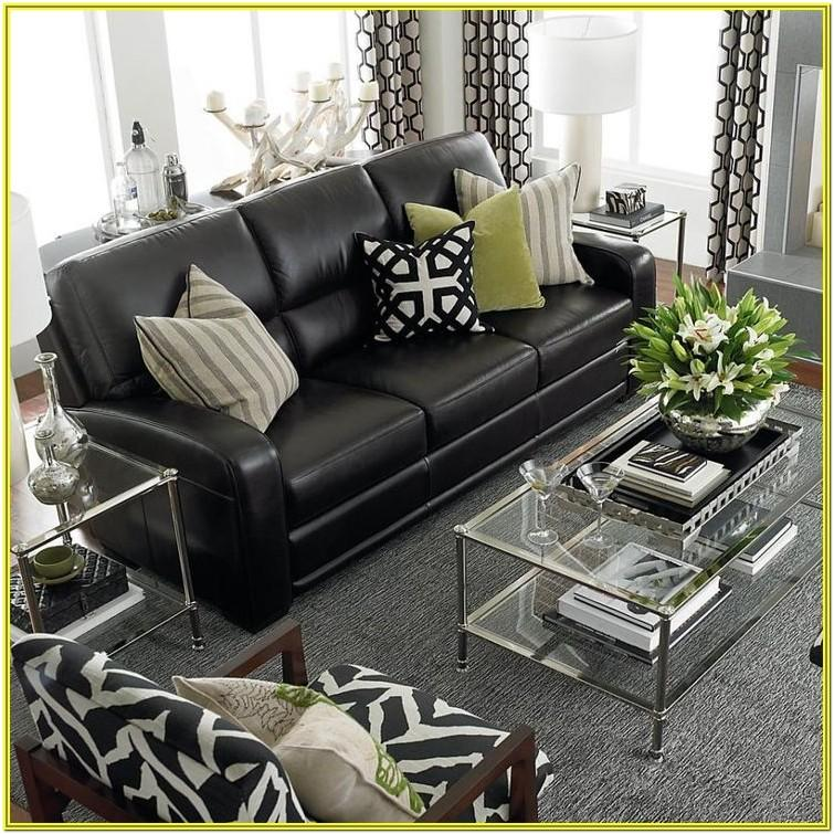 Living Room Ideas With Black Leather Couches