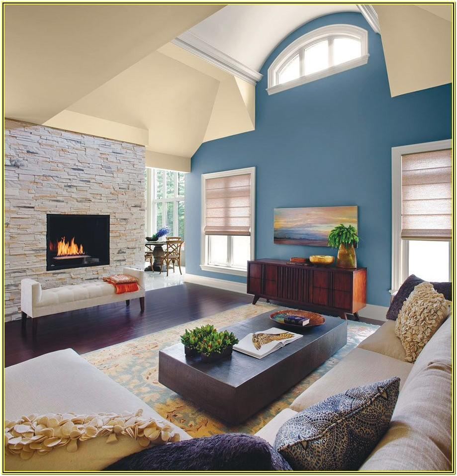 Living Room Ideas With Blue Accent Wall