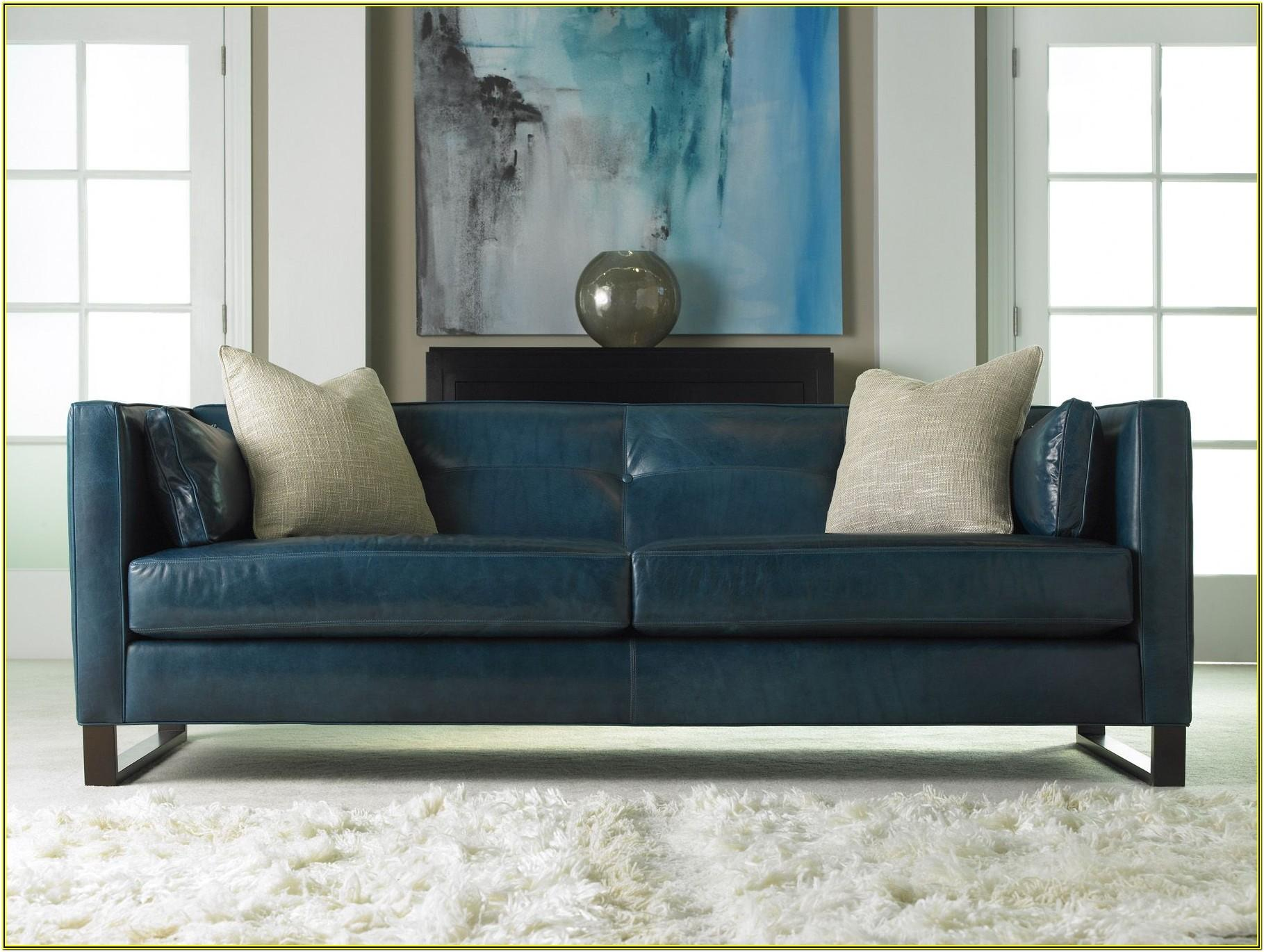 Living Room Ideas With Blue Leather Couch