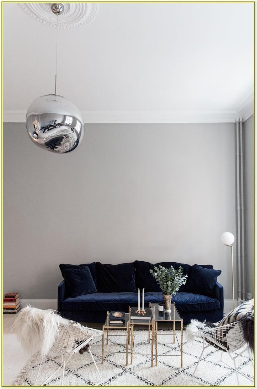 Living Room Ideas With Blue Velvet Sofa