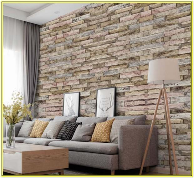 Living Room Ideas With Brick Wallpaper