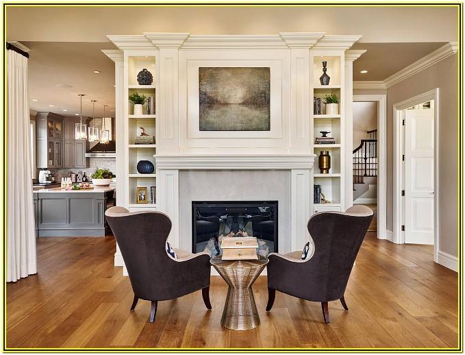 Living Room Ideas With Central Quartz Fireplace