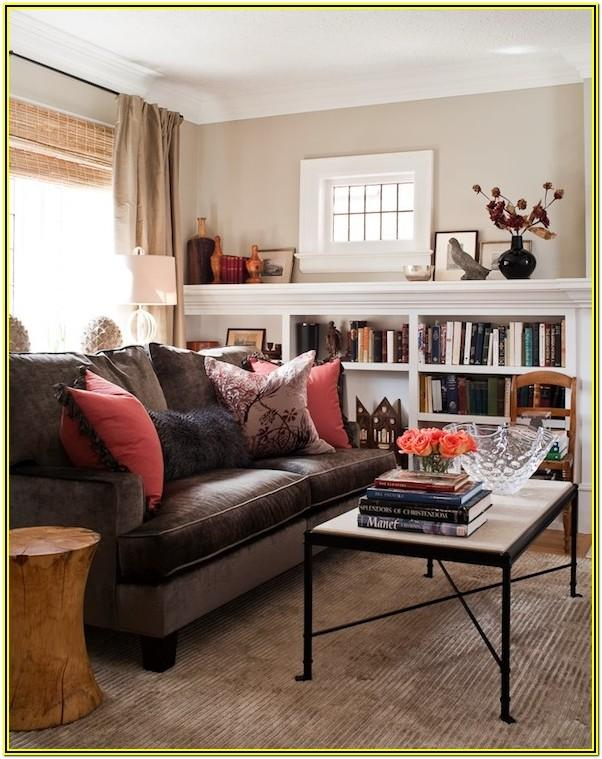 Living Room Ideas With Chocolate Brown Sofa