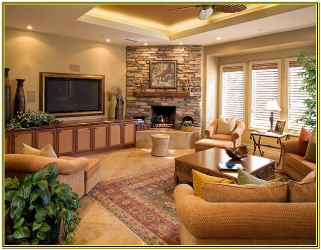 Living Room Ideas With Corner Fireplaces