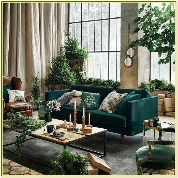 Living Room Ideas With Dark Green Couches
