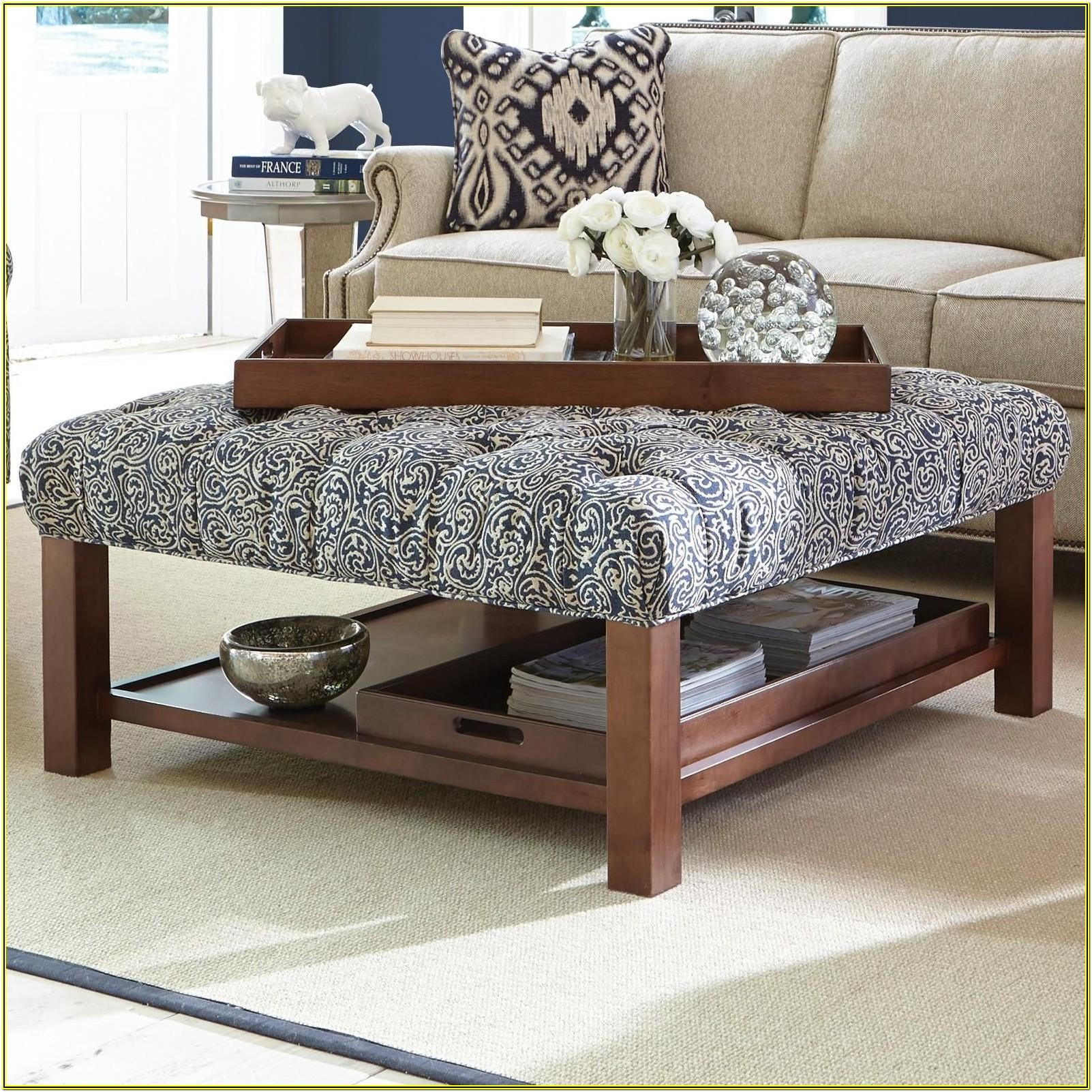 Living Room Ideas With Fur Ottoman