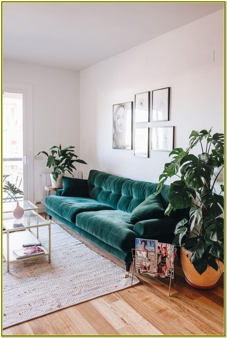 Living Room Ideas With Green Sofas