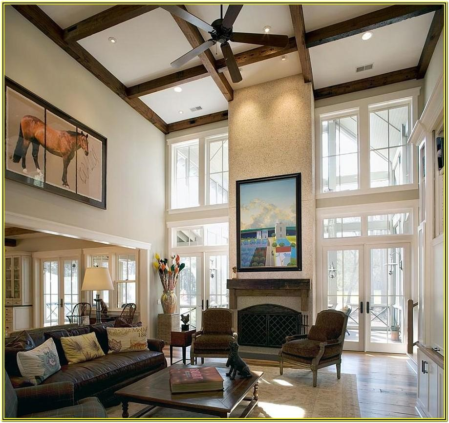 Living Room Ideas With High Ceilings