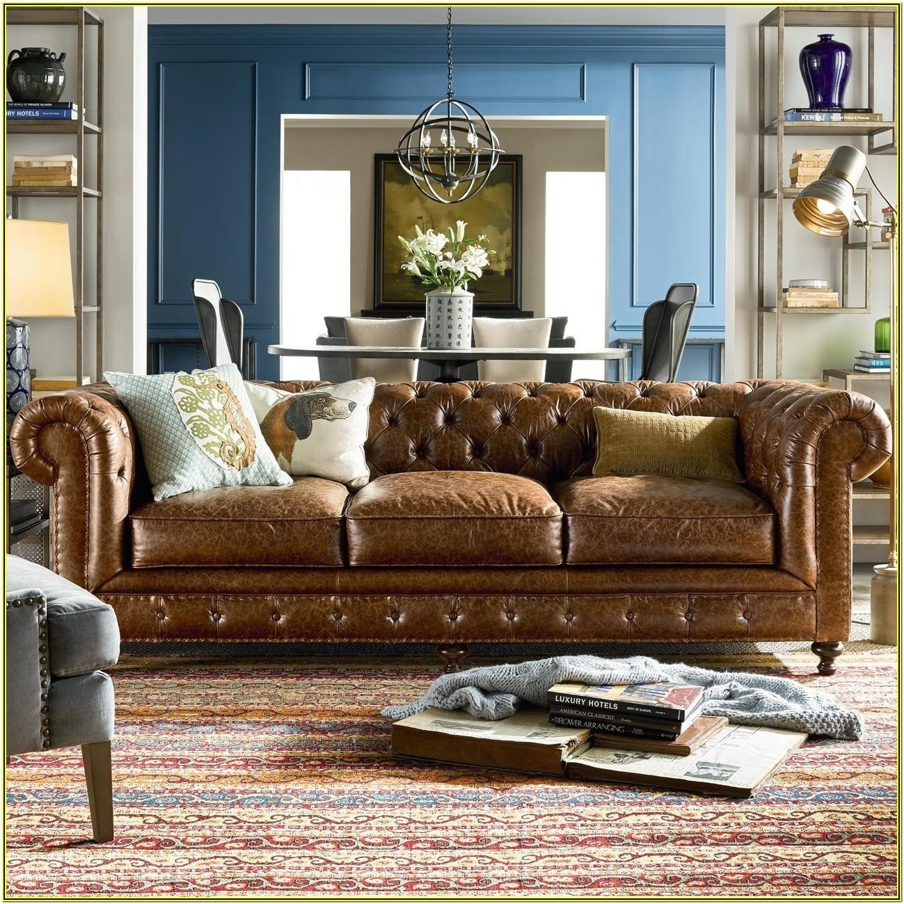 Living Room Ideas With Leather Chesterfield Sofa