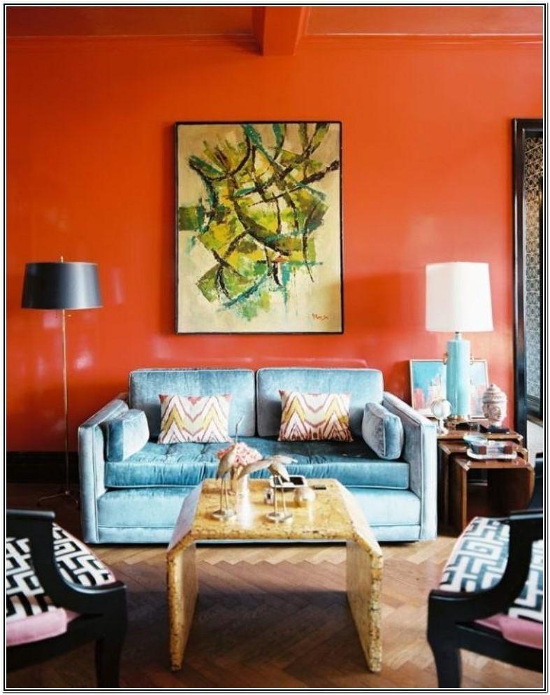 Living Room Ideas With Orange Walls