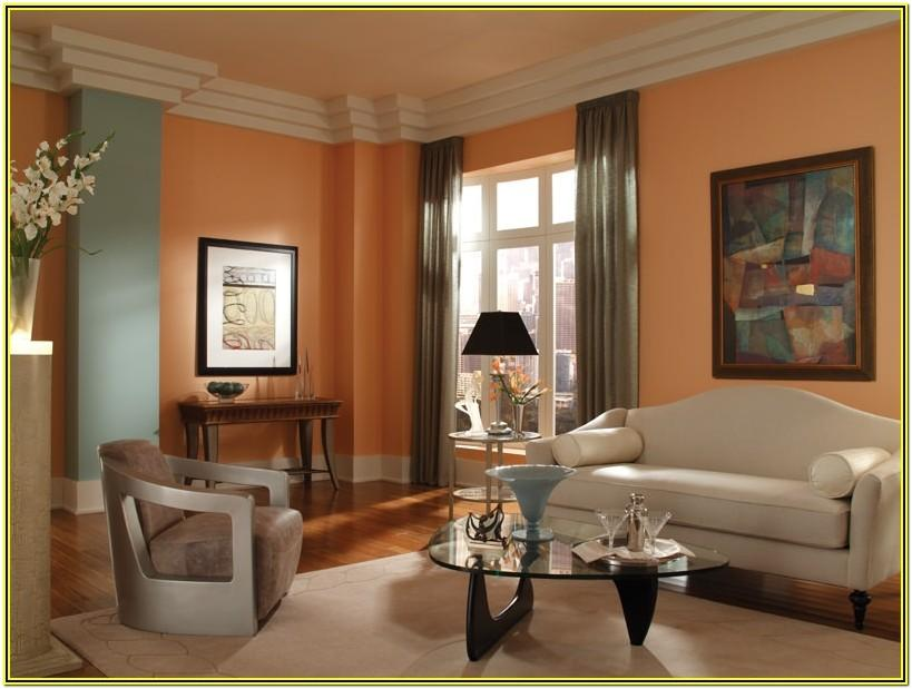 Living Room Ideas With Peach Walls
