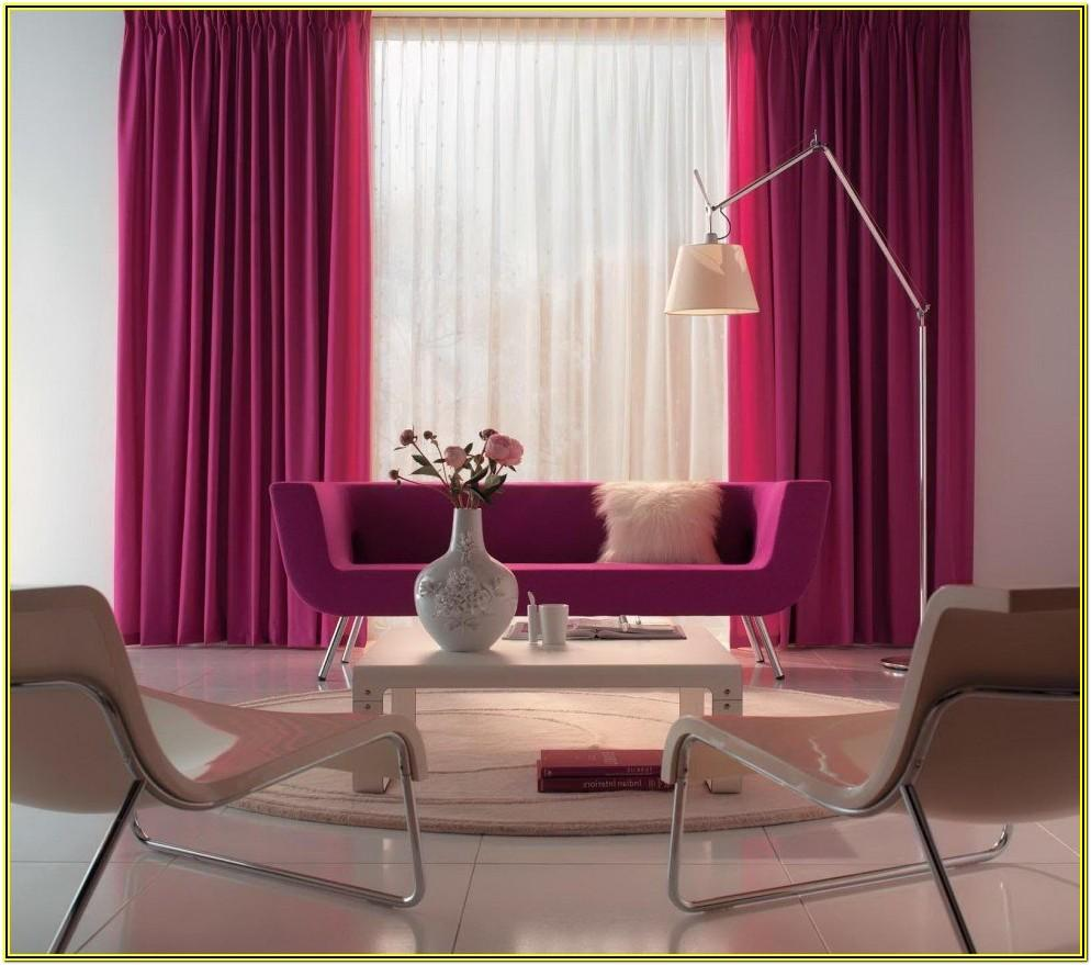 Living Room Ideas With Pink Curtains