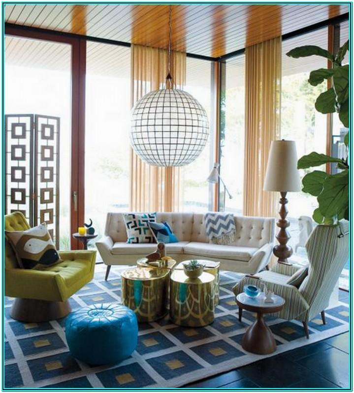 Living Room Ideas With Poufs