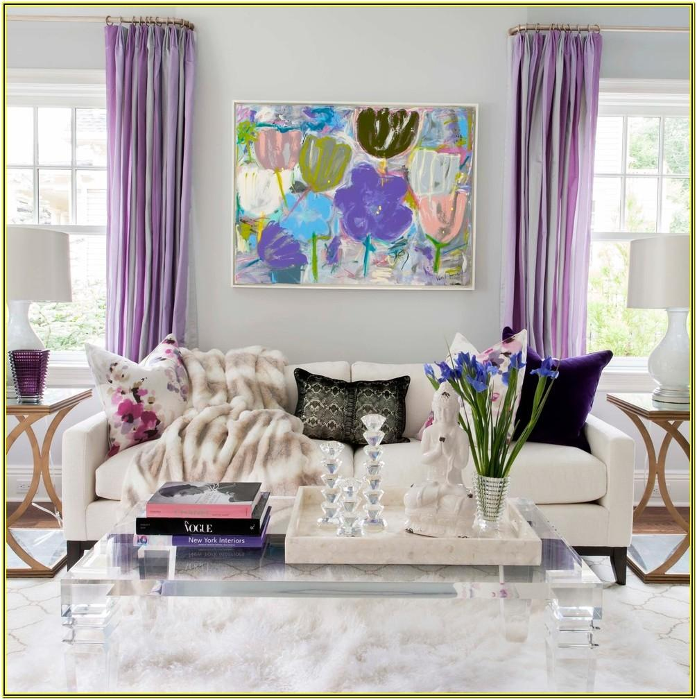 Living Room Ideas With Purple Curtains