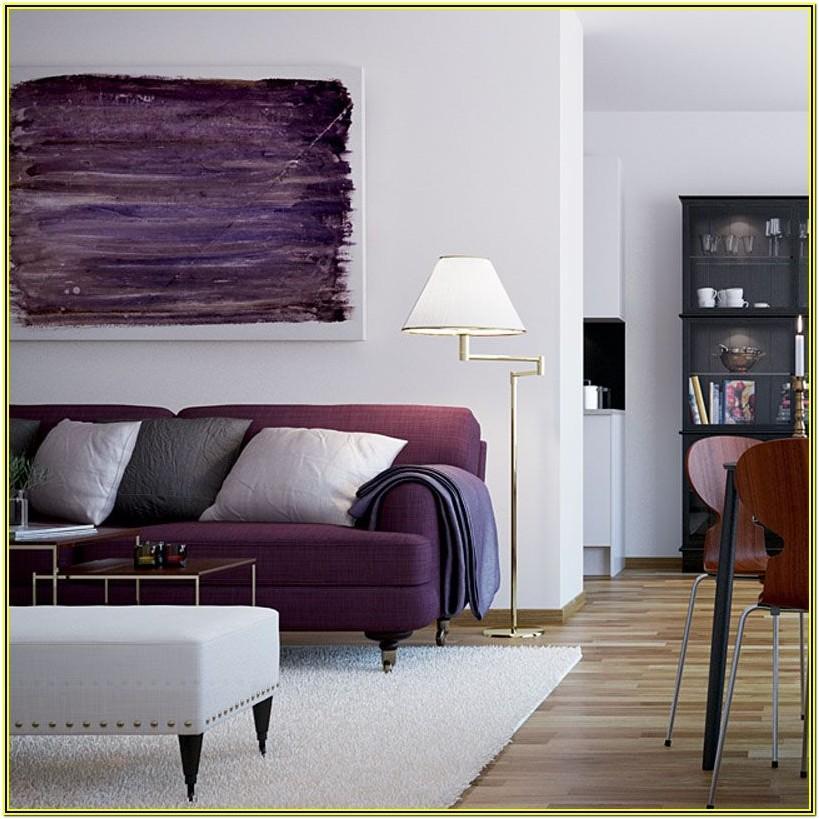 Living Room Ideas With Purple Sofa
