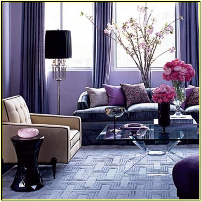 Living Room Ideas With Purple Walls